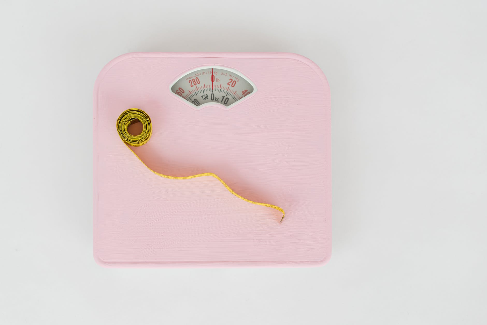 measuring tape on a weighing scale